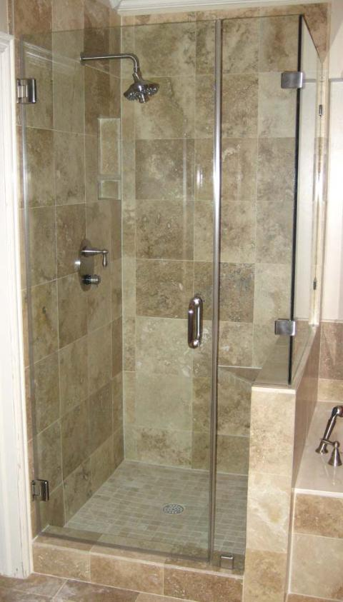 Rockwall glass for Fully enclosed shower